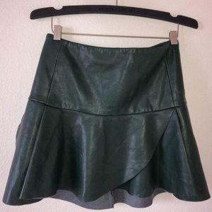 Dresses & Skirts - Deep Green Bodycon Leather Skirt